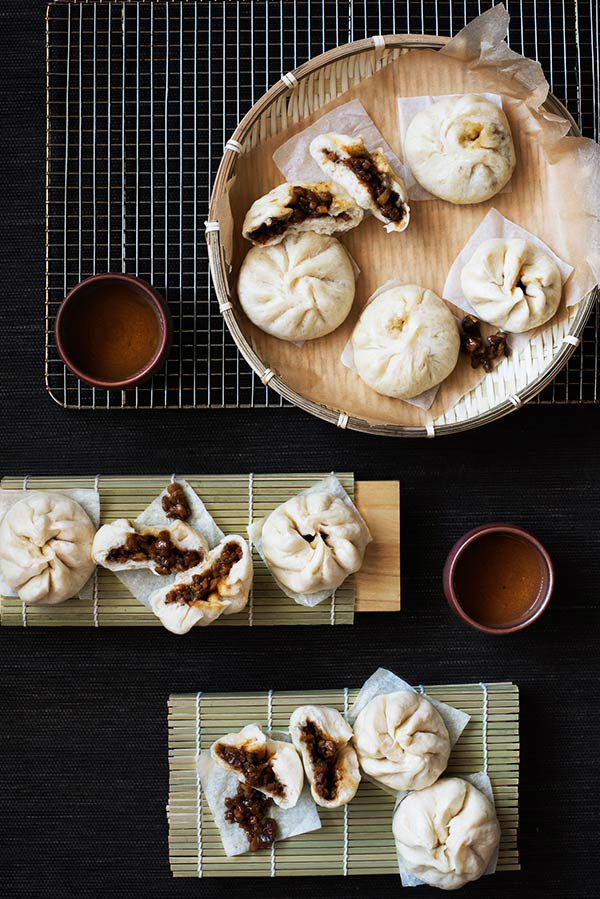 ... ? How about making some Steamed Chinese BBQ Pork Buns (Char Siu Bao