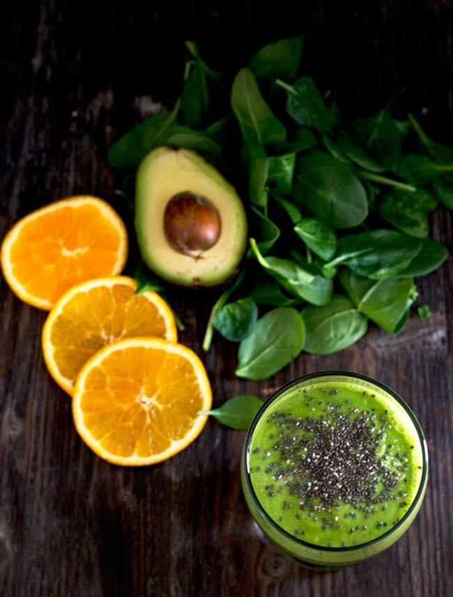 Detox your body with this Orange Avocado Green Smoothie. Perfect for meals or snack. It's creamy, super delicious and good for you.