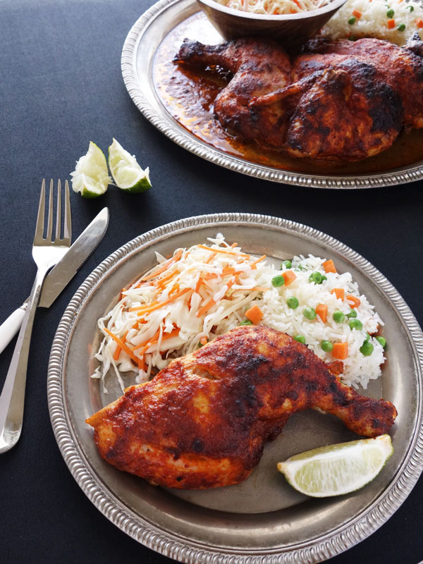 This Peri Peri Chicken is the closest thing to Nando's with the spicy & tangy sauce. Chicken is roasted to perfection. So simple to make too.