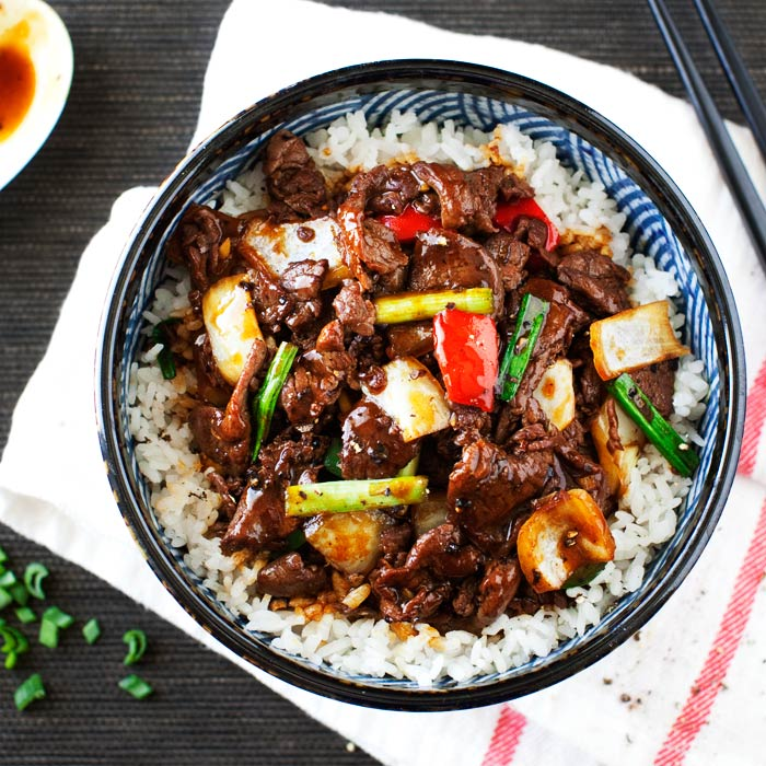 Stir Fried Black Pepper Venison | Curious Nut