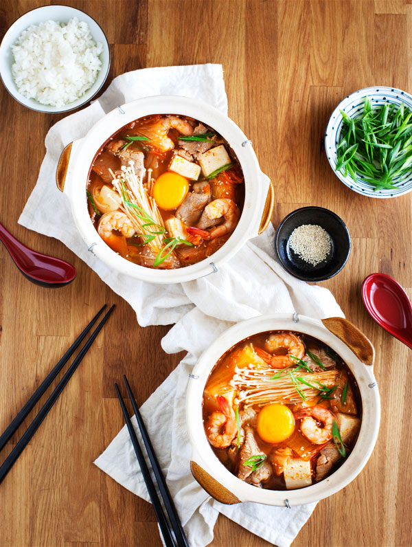Korean Stew With Tofu & Kimchi Recipe — Dishmaps