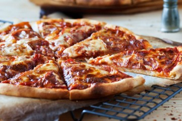 Everyone's favorite Classic Pepperoni Pizza. Easy to make with delicious homemade crust & sauce. This will become your go to pizza.