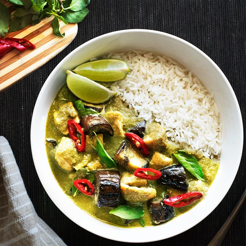 & packed with flavor Thai green curry made from homemade green curry ...