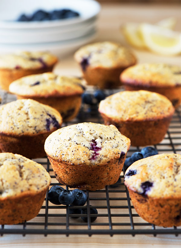 ... poppy seeds & juicy, sweet blueberries muffin. Made from yogurt &...