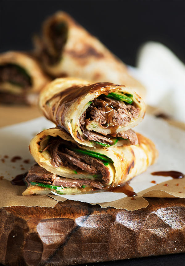 Taiwan Beef Stuffed Scallion Pancake