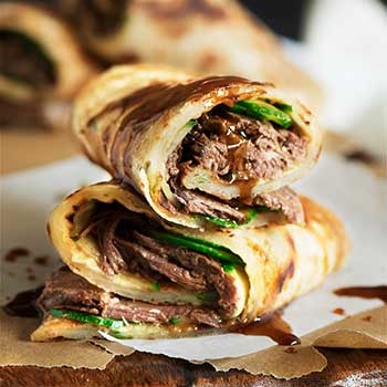 Taiwan Beef Stuffed Scallion Pancakes