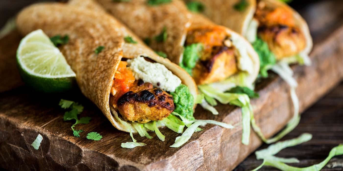 Chicken Tikka Dosa Roll Up