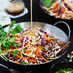 Asian Slaw with Peanut Ginger Dressing