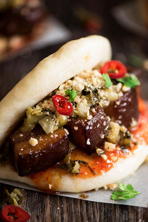 Gochujang Pork Steak Sliders Curious Nut